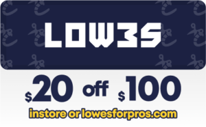 Lowes 20 off pro