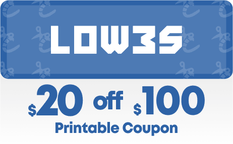 Lowes 20 off 100